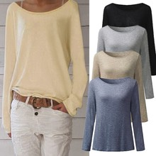 Buy Fashion Women Pullover Tops Casual O-neck Slim Fit Long Sleeve Knitted T-shirt Blusas Feminino Autumn Bottoming Shirt Large Size for $8.35 in AliExpress store