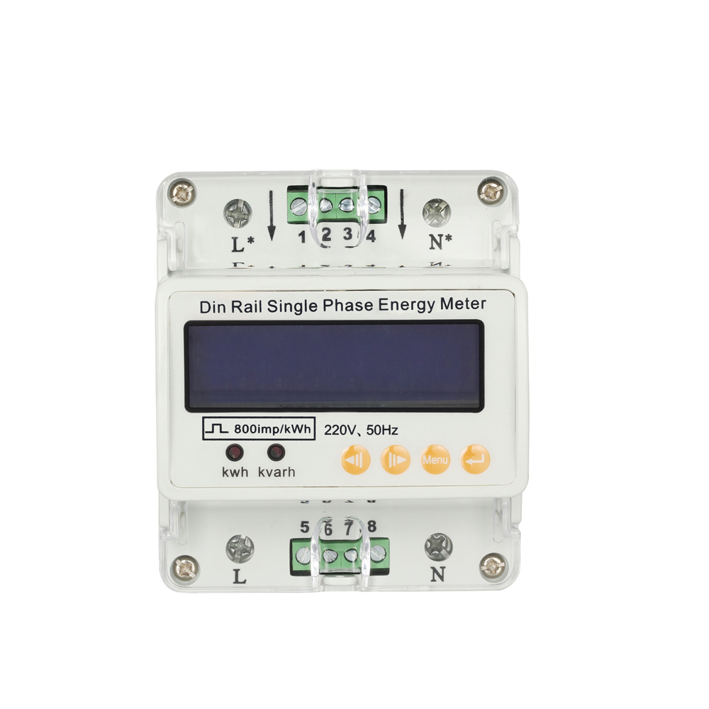 LCD Din Rail Single Phase Electricity usage Energy watt Meter 50/60Hz Current/Voltage Din-rail KWH contador electrico(China (Mainland))