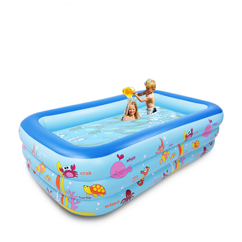 300cm 3 ring child kids inflatable pool baby swimming pool children large inflatable swimming pool family Indoor pool(China (Mainland))