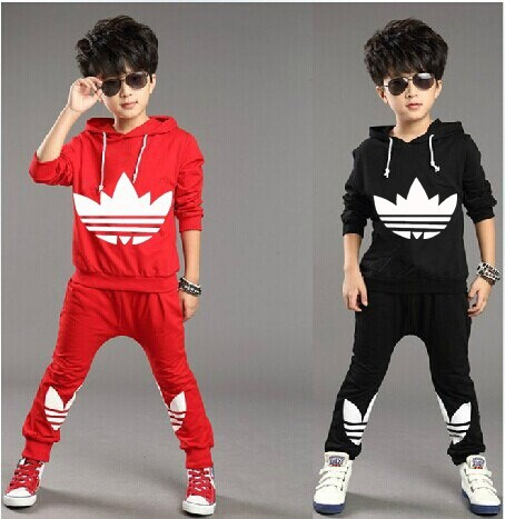 2015 fashion new autumn winter Children Tracksuit casual kids clothes sets boys and girls hoodie and coat+trousers(China (Mainland))