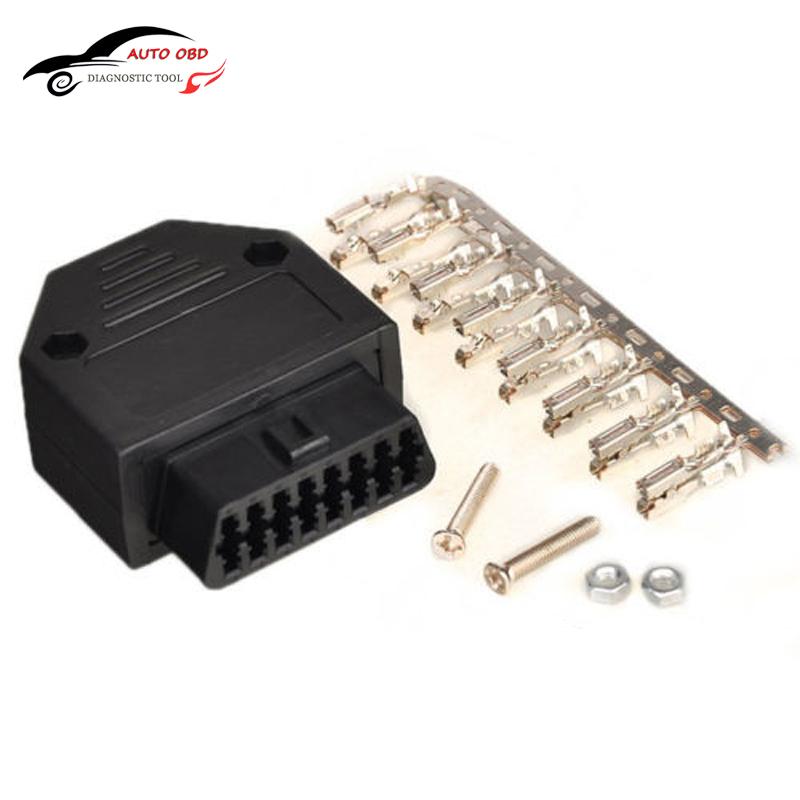OBD2 OBD II OBD 2 16 Pin Connector Female Diagnostic Tool OBD Connector Plug+Shell+Terminal+Screw Diagnostic-tool For daewoo(China (Mainland))