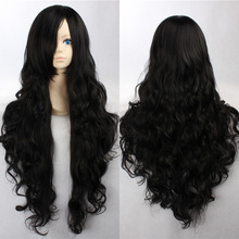 Fashion 90cm Long Black Cosplay Wigs Ladies' Curly Wigs(China (Mainland))
