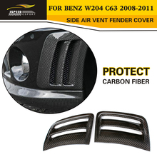 Buy W204 Car Styling Carbon Fiber Side Air Vent Fender Cover Trim Benz W204 C63 Bumper 2008-2011 for $93.78 in AliExpress store