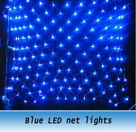 Buy blue waterproof led net lights for for 160 net christmas decoration lights clear