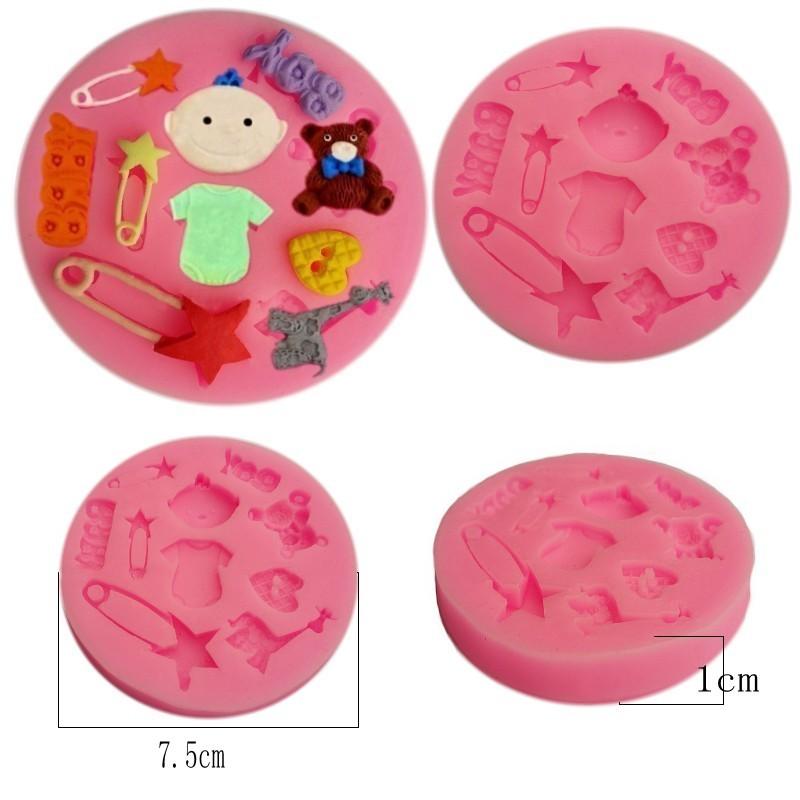 1PCS Fondant Cake Chocolate Decorating Candy Pastry Baby Silicone Mold Baking Tools(China (Mainland))
