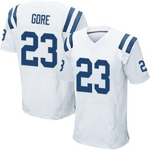 Men's #23 Frank Gore Elite White Football Jersey 100% Stitched(China (Mainland))