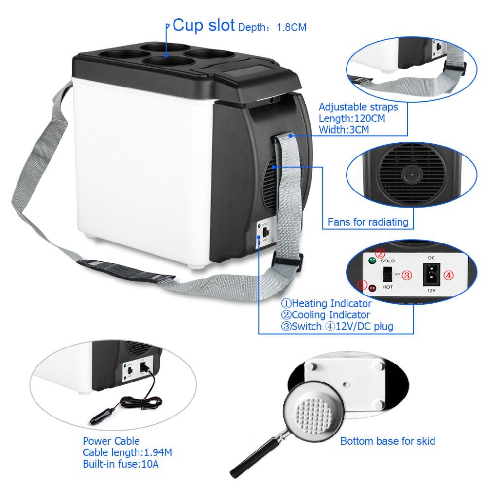 ถูก ดีเอชแอจัดส่งฟรี!!รถตู้เย็นแบบพกพาออโต้มินิรถเดินทางตู้เย็นที่มีคุณภาพABSมัลติฟังก์ชั่เย็นที่บ้านตู้แช่แข็งอุ่น