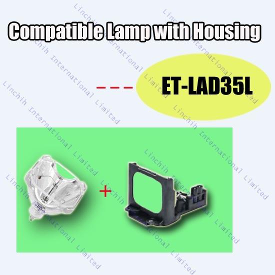 Projector lamp ET-LAD35L for Panasonic PT-D3500 (Long Life) ; PT-D3500E (Long Life) / replacement projector bulb with housing<br><br>Aliexpress