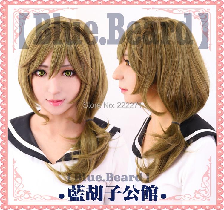 FREE SHIPPING Anime Gekkan Shoujo Nozaki-kun Yuzuki Seo Long  Full Lace Cosplay Wig  Costume Heat Resistant + CAP<br><br>Aliexpress