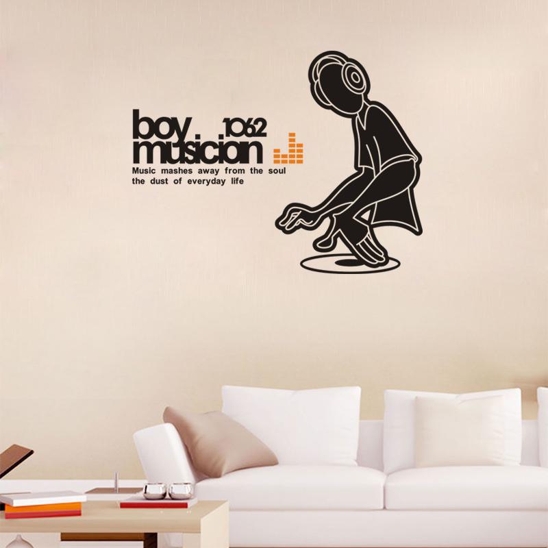 Popular Musician Art Music Wall Decor Decals Kids Home Art Decor Wall