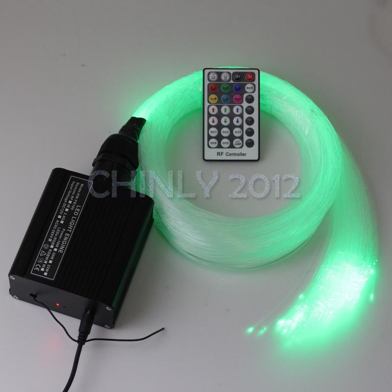 2015 NEW 16W RGBW 28key RF remote LED Fiber Optic Star Ceiling Light Kit 300pcs 2M 0.75mm 300pcs fibre optic lighting(China (Mainland))