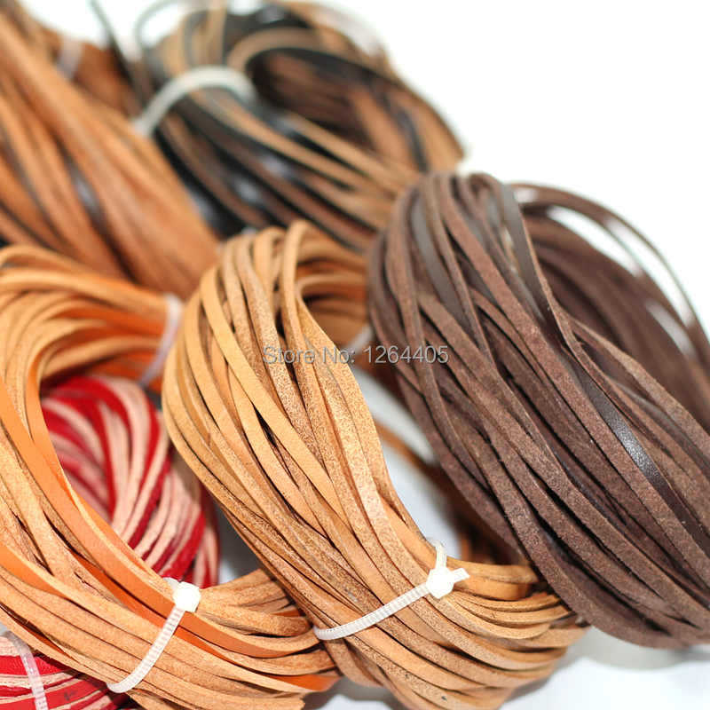 3mm wide leather ,10m/piece bracelets rope genuine cow leather cord(China (Mainland))