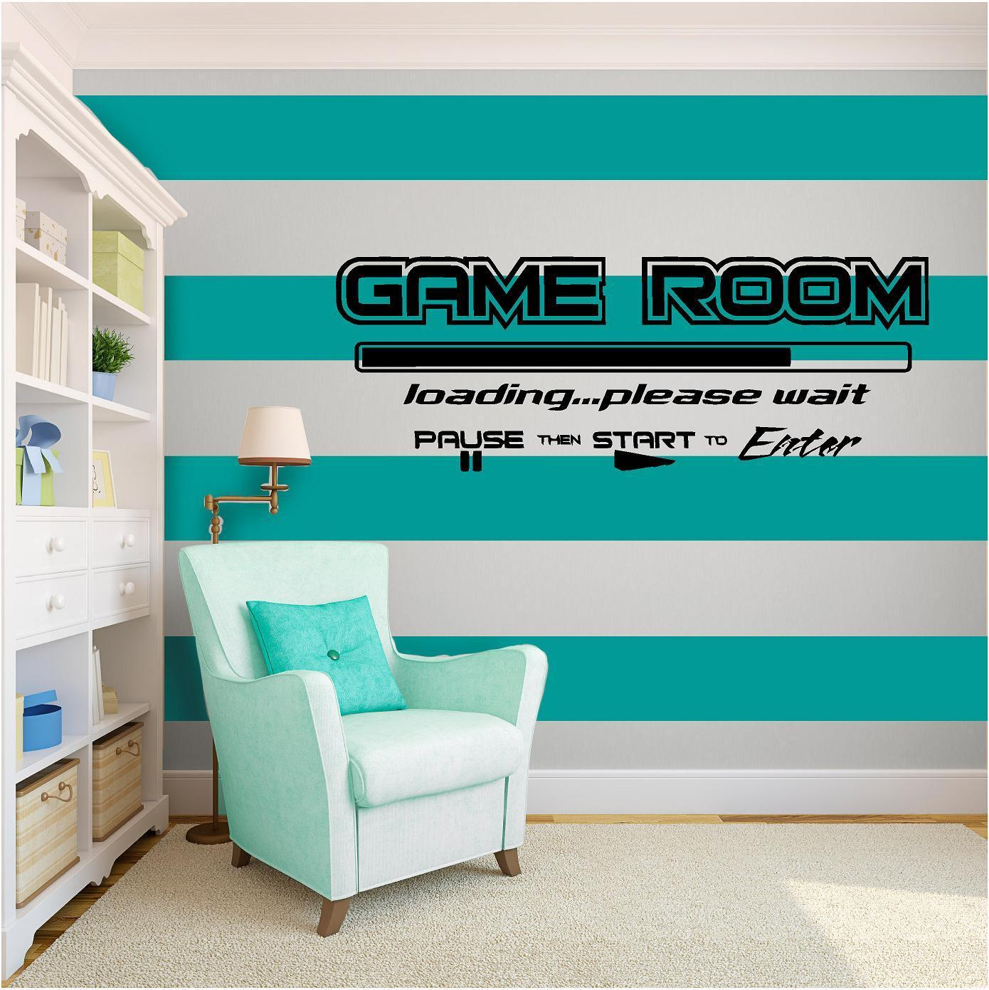 Game Room Vinyl Wall Art quote Home Decor Decal Words & Phrases Matte Black free shipping(China (Mainland))