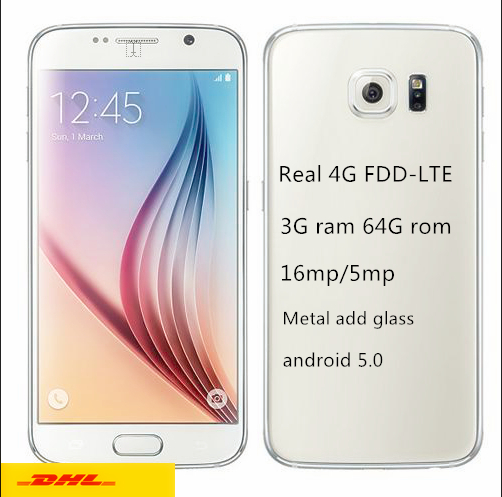 Real 4G LTE HDC S6 phone Freeship MTK6592 Octa core s6 mobile phone Lollipop 3G Ram 64G Rom G920F g9200 MTK6735 4G cell phone(China (Mainland))