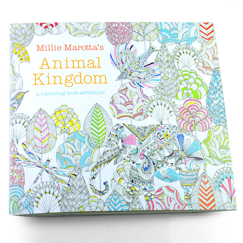 24 Pages Animal Kingdom English Edition Coloring Book For Children Adult Relieve Stress Kill Time Painting Drawing Book<br><br>Aliexpress