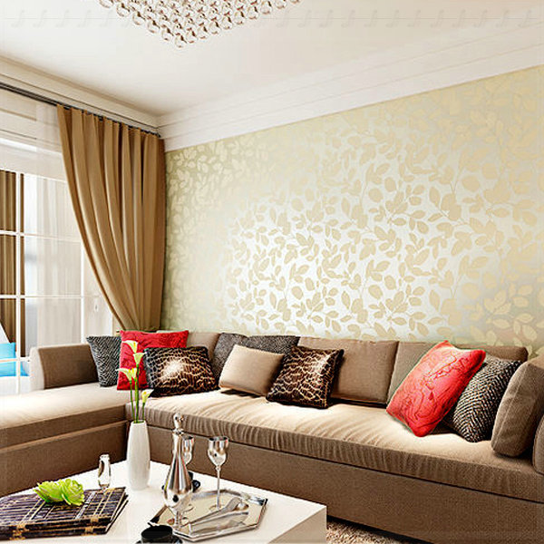 Wallpaper designs for living room modern house for Red wallpaper designs for living room