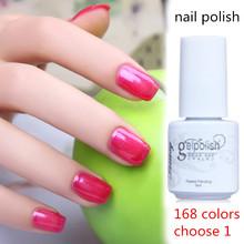 168 Colors Paint Soak Off UV Gel Nail Polish Shiny Nail Gel Long-lasting Gelpolish Base Nail Art Varnish Beauty (Color 77-95)(China (Mainland))