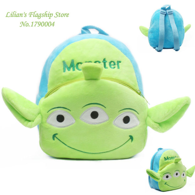 2016 высокое качество три глаза монстр плюшевые мультфильм рюкзак дети характер мешок подарок для детей Mochila Infantil