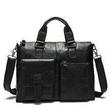 Genuine Leather men bag Vintage Oil Wax men's briefcase shoulder bussiness Laptop bag men messenger bags men's travel bags 2016(China (Mainland))