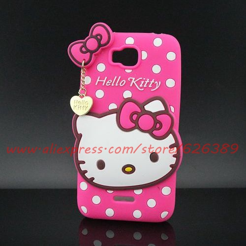 New Arrival Silicone Hello Kitty Cell Phone Huawei Y5 Y5C Y541 Case Cover(China (Mainland))
