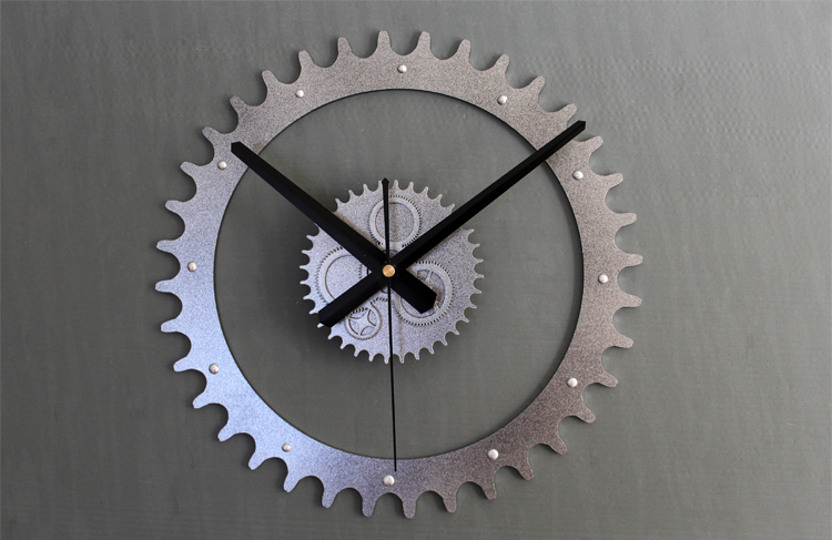 Mechanical gear wall clock,Original Genuine true 3D ...