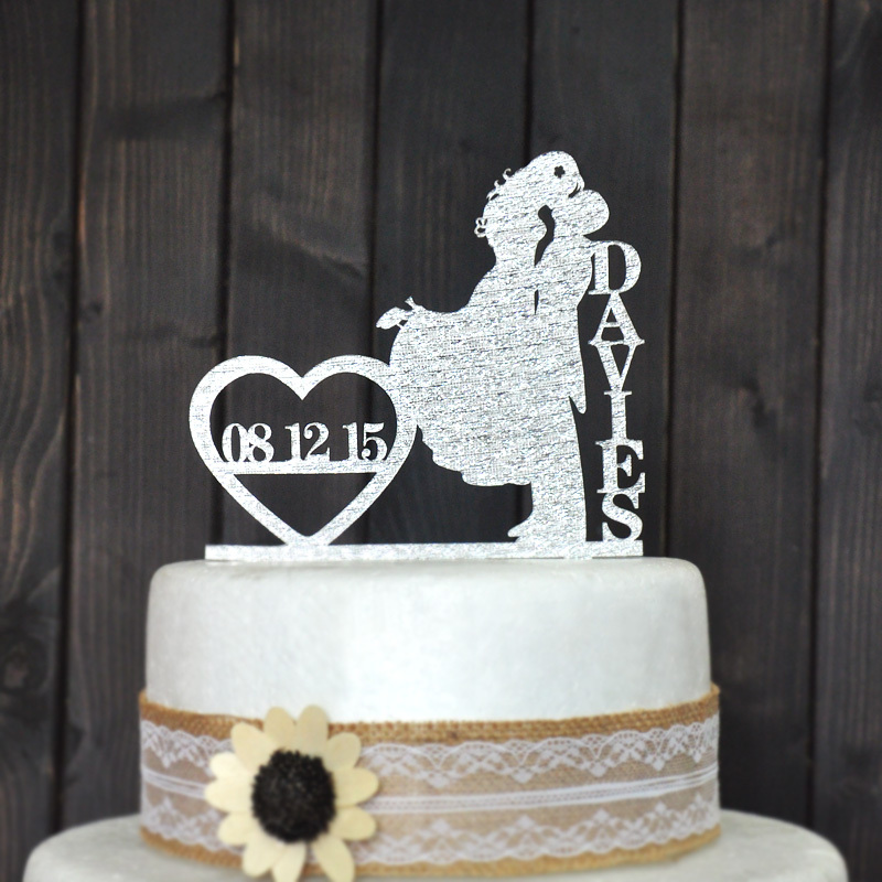 custom cake topper wedding cake decoration for personalized wedding cake topper in event party. Black Bedroom Furniture Sets. Home Design Ideas