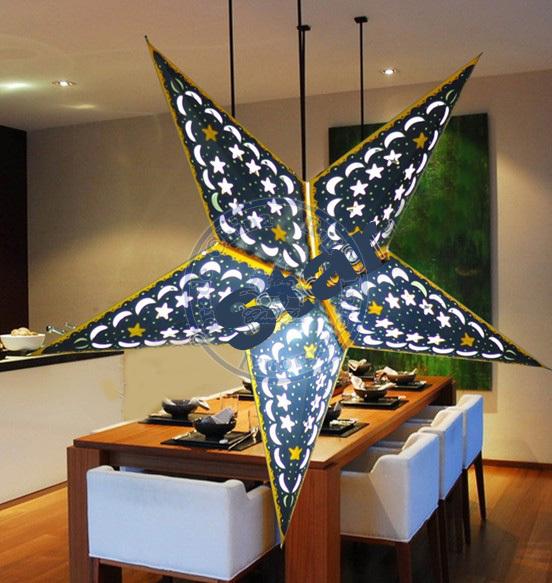 paper star lantern lampshade party decor craft wedding decoration