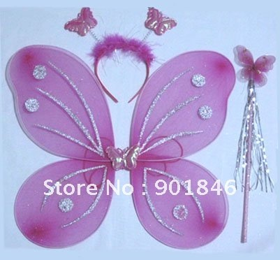 Wholesale funlife halloween butterfly fairy wings magic for Butterfly wands wholesale