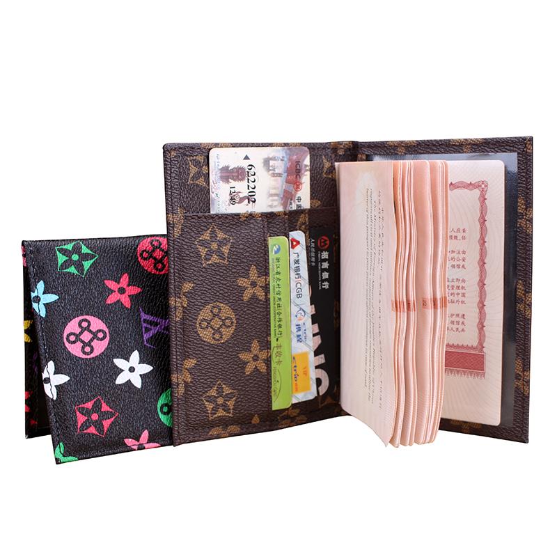2016 New Brand Fashion Passport Cover Travel Passport Card ID Holder Bag Quality PU Leather Passport Holder Wallet Ticket Case(China (Mainland))