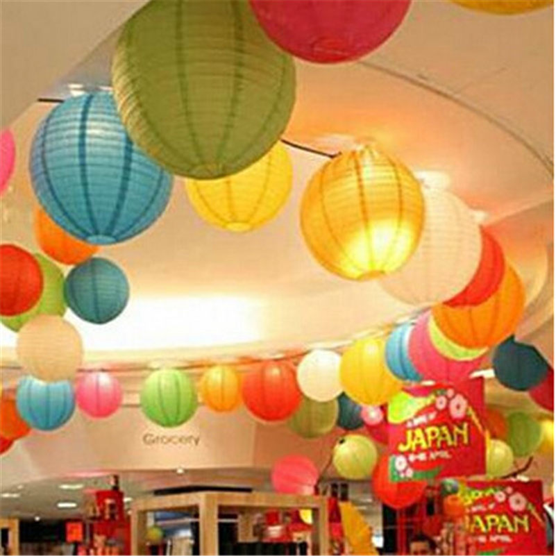 8 inch White Chinese Paper lantern For Party Wedding Decoration Supplies Hangings Paper cylinder festival Ornaments Decor(China (Mainland))