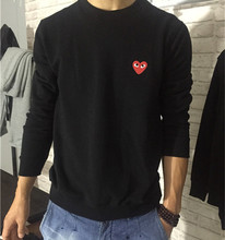Hot sale Mens classic comme des garcons Hoodies Sweatshirts embroidery heart cdg play hoodies cotton sweatshirt high quality(China (Mainland))