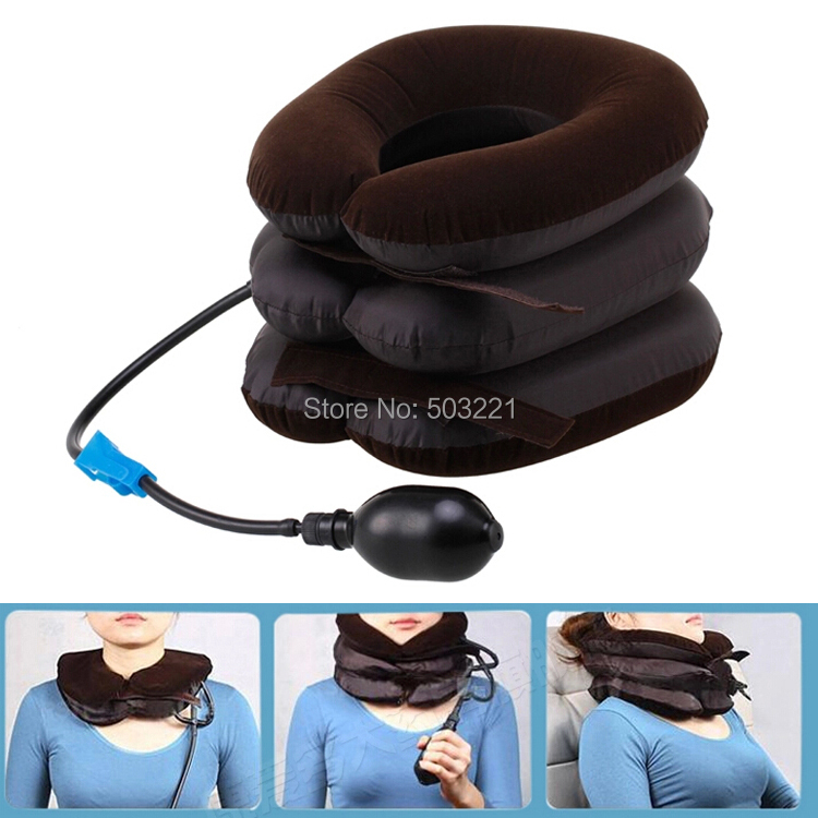 New air cervical neck traction soft brace device unit neck massager free shipping(China (Mainland))
