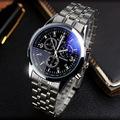 YAZOLE Full Steel White Black Blue Ray Dial 30m Waterproof Business Dress Sport Wrist watch Watches
