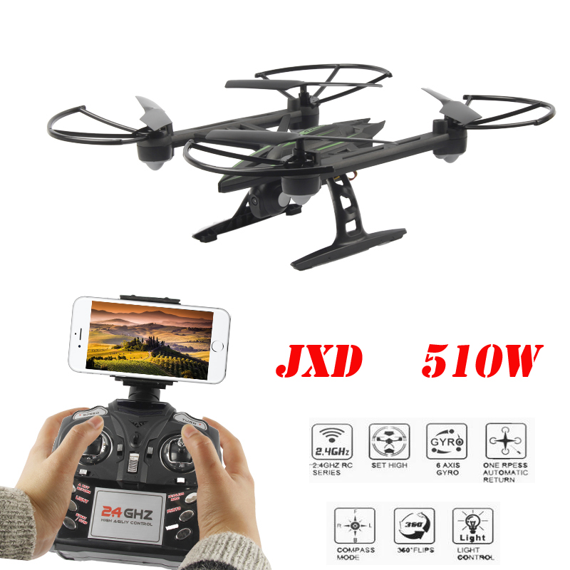JXD 510W JXD510W WiFi FPV With 720P Camera One-Key-return &amp; Take Off Barometer Set High RC Quadcopter RTF<br><br>Aliexpress