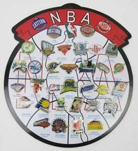 33 teams of America/USA National Basketball Association badge Basketball team brooch souvenir,eastern&western free to usa(China (Mainland))