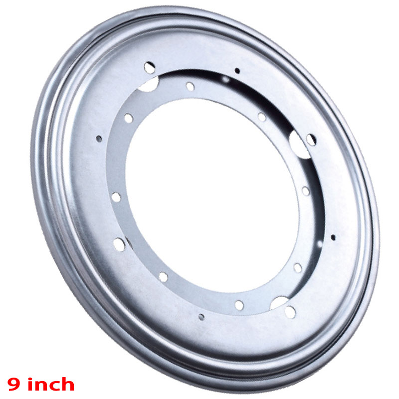 9inch Silver Rotating Bearing Turntable Turn Table Round Swivel Plate Display Base For Kitchen Tools(China (Mainland))