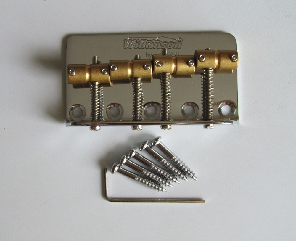 Wilkinson Bass Bridge w/ Brass Saddles fits P Precision Bass JB Chrome(China (Mainland))