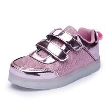 UncleJerry נעלי נעלי טניס נעלי ספורט לילדים ילדים זוהר זוהר Led USB נערי נערות נעל אופנה טעינת אור LED(China)