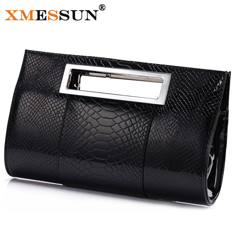 Genuine Patent Leather Handbags 2015 New Hobos Alligator Shoulder Messenger Bags Women Day Clutch Real Cowhide Leather Tote Bag(China (Mainland))