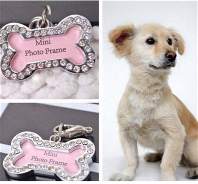 Customized Personalized Bone Shaped Dog Tag Stainless Steel Pet Cat Dog ID Tags(China (Mainland))