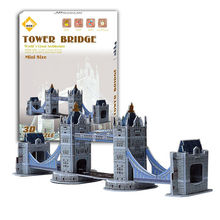 High Quality 10 models Optional Intelligent Game Carboard Jigsaw 3D Puzzle Burj Al Arab DIY Educational Toy For Kids Birthdays(China (Mainland))