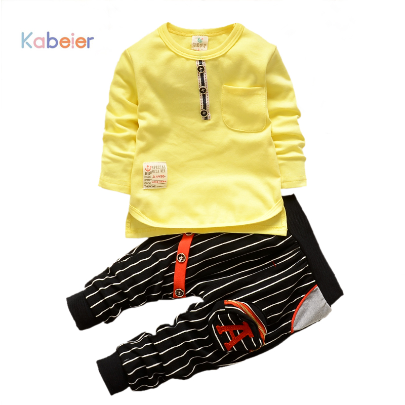 Kids Clothes Boys Suit Set High Quatily Children T Shirt Suits Cotton Dress Black And White Nursery 2PCS Set Baby Clothing Soft(China (Mainland))