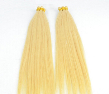 "18""-30"" in Stock 100% Virgin Brazilian Hand Tied Hair Extensions Silky Straight 100g/pc #613 Bleach Blonde Hair Weaving"