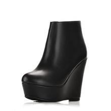 MoonMeek 2020 mode herbst winter stiefel frauen genuine ankle stiefel leder high heels stiefel(China)