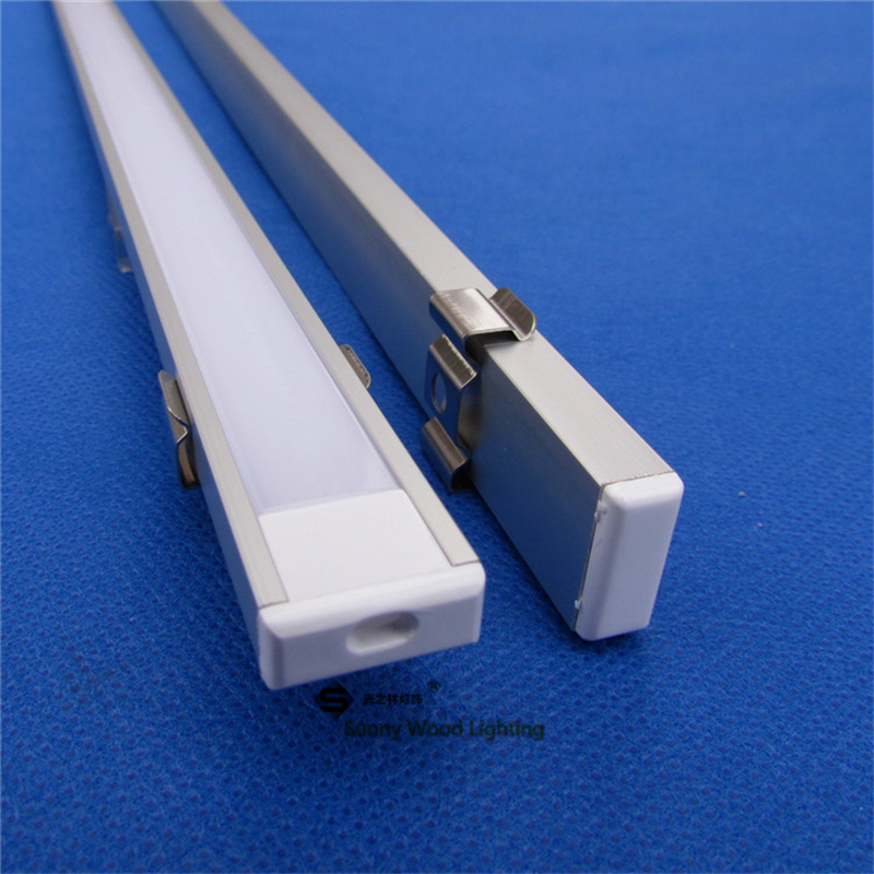 Free shipping 2m length aluminum profile,2m led bar with 5050 strip ,milky/transparent cover for 12mm pcb CC-1607-2m(China (Mainland))