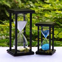 Promotional wooden sandglass 30 minute hourglass timing sand clock on restaurant gift home decoration(China (Mainland))