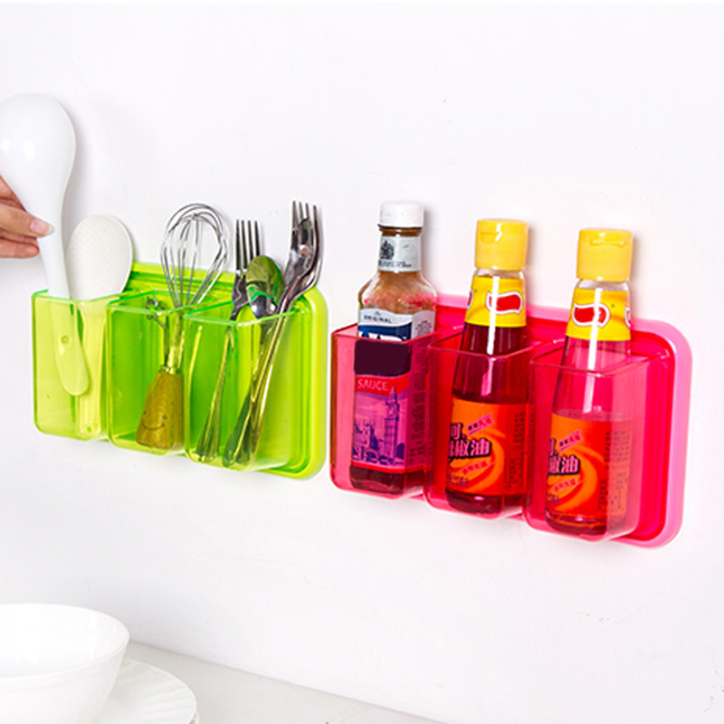 Multi-functional Kitchen Storage Shelve Rack Wall Mounted Bathroom Toothbrushes Toothpast Holder 26*15cm E#CH(China (Mainland))