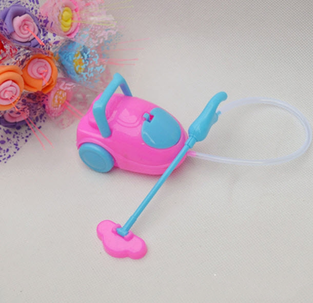 Kids Toy Dollhouse Mini Vacuum Cleaner For Barbie Dolls For Kelly Dolls Children Baby Girl Choose Furniture Doll Accessories(China (Mainland))