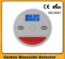 Home Security 85dB Warning Independent LCD CO Carbon Monoxide Poisoning Sensor Monitor Fire Warning Alarm Detector -one pcs