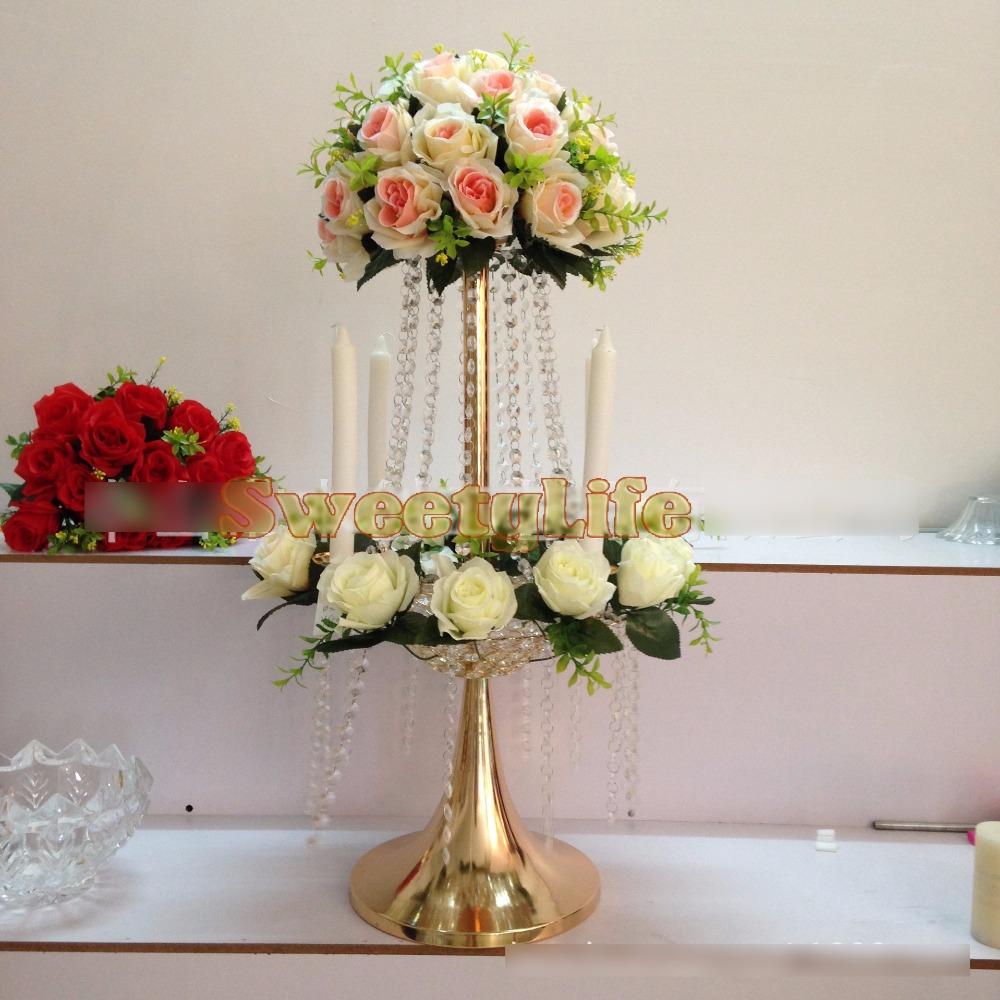 Pcs lot cm h d crystal wedding road lead